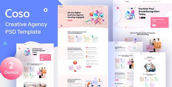 Coso – Creative Agency PSD Template - Creative Figma