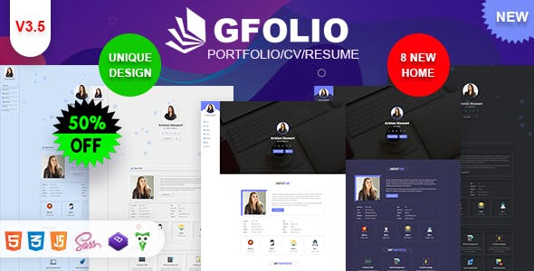 Gfolio - Personal Portfolio