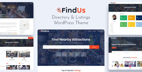 Findus - Directory Listing WordPress Theme - Directory & Listings Corporate
