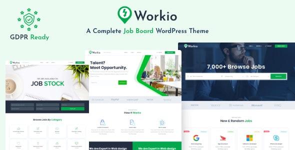 Workio – Job Board WordPress Theme - Directory & Listings Corporate