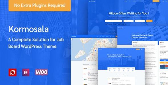 Kormosala – Job Board WordPress Theme - Directory & Listings Corporate