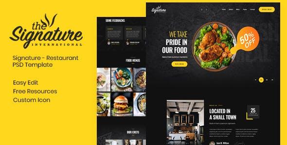 Thesignature - Restaurant PSD Template