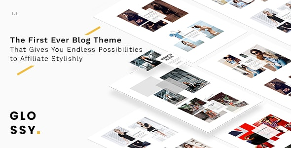 Glossy - Fashion Blog Theme for Stylish Affiliation - Personal Blog / Magazine