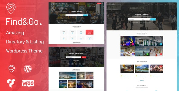 Findgo - Directory Listing WordPress Theme - Directory & Listings Corporate