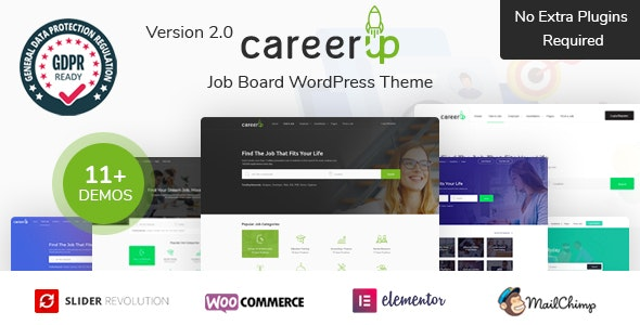 CareerUp - Job Board WordPress Theme - Directory & Listings Corporate