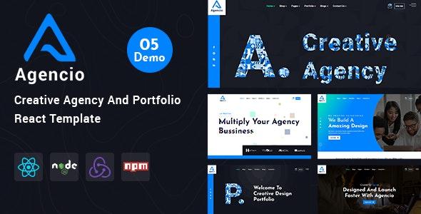 Agencio - Creative Agency And Portfolio React Template - Creative Site Templates