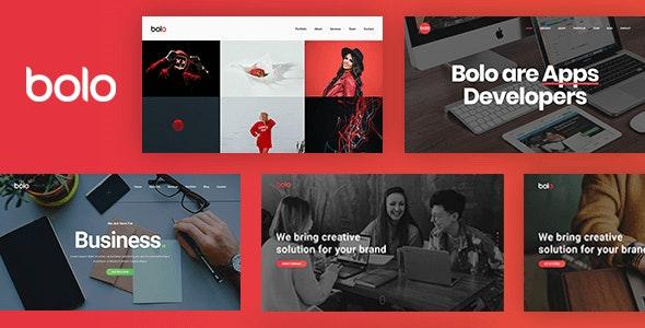 Bolo - One Page Creative Multipurpose Website Template - Portfolio Creative