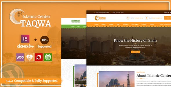 Download Taqwa - Islamic Center WordPress Theme