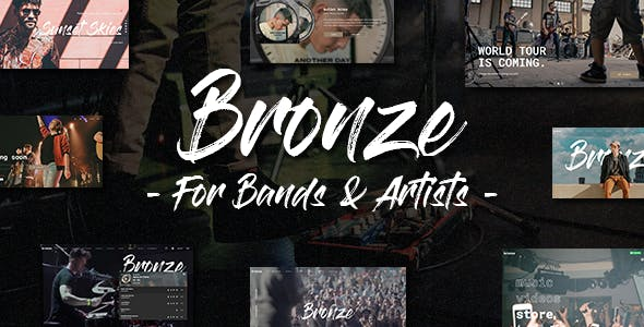 Download Bronze - A Professional Music WordPress Theme
