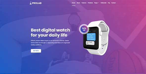 Product Landing Page - Prolab