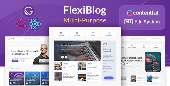Download FlexiBlog - React Gatsby Multipurpose Blog Template