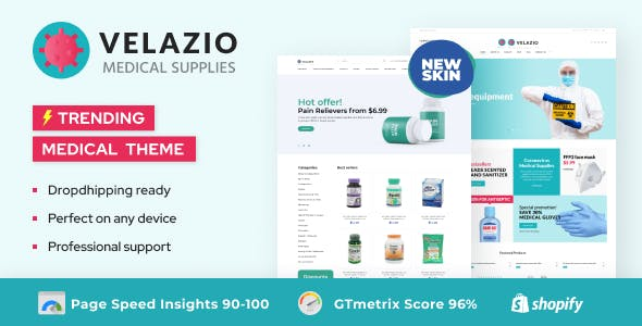 Velazio - Shopify Medical Supplies Responsive Theme