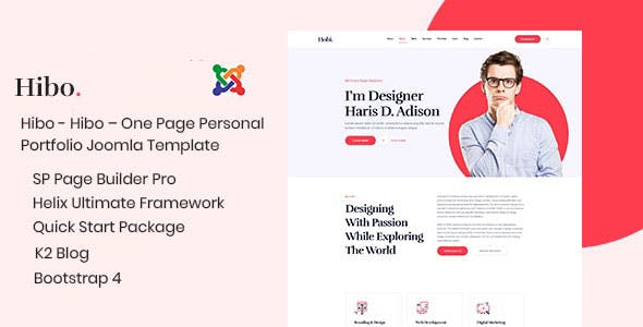 Download Hibo – Creative Personal Portfolio Joomla Template