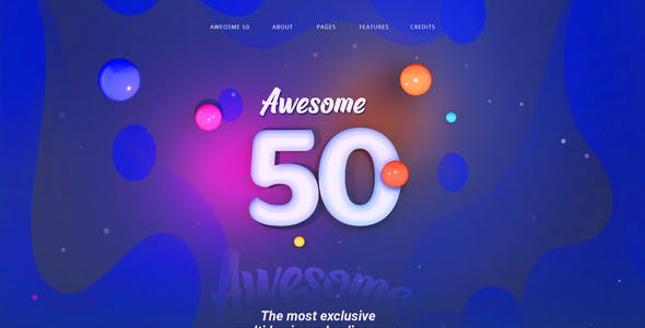 Awesome50 | A Wholesale Collection of 50 Multi Business Landing Pages and Home Pages PSD Template