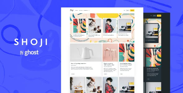 Download Shoji - Magazine Ghost Blog Theme