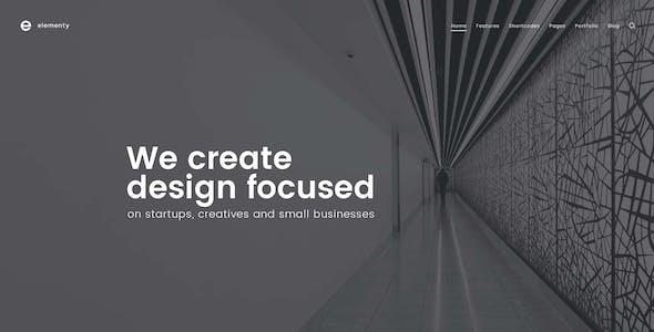 Elementy - Multipurpose One & Multi Page WordPress Theme