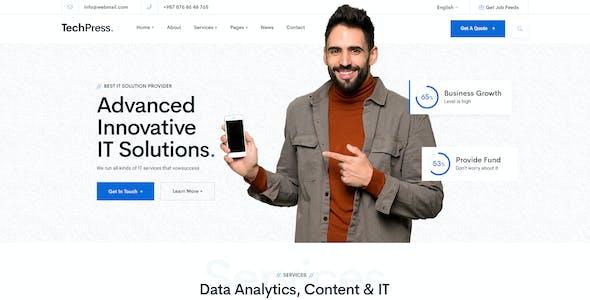 TechPress - Technology PSD Template