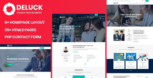 Deluck - Multipurpose Business Agency & Corporate Template - Business Corporate