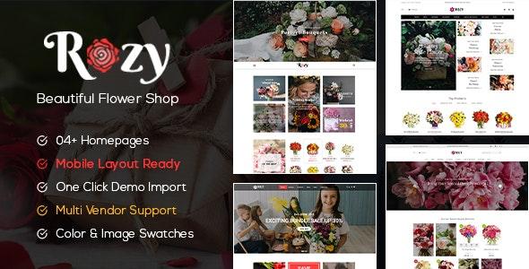 Rozy - Flower Shop WooCommerce WordPress Theme (4+ Indexes + Mobile Layouts Ready) - WooCommerce eCommerce