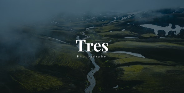 Tres - Creative Photography Template - Photography Creative