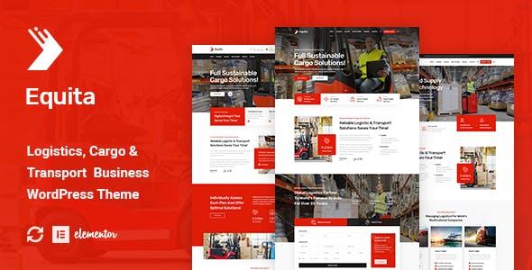 Equita - Logistics Cargo WordPress Theme