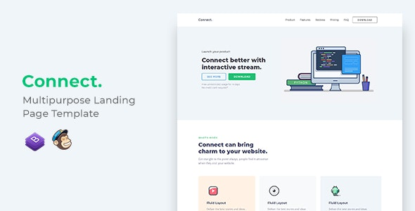 Connect Multipurpose Landing Page Template - Landing Pages Marketing