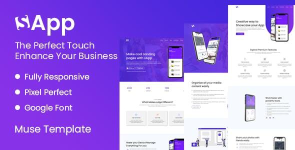 Download Sapp - App Landing Page