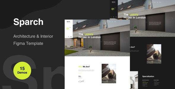 Sparch - Architecture & Interior Figma Template - Business Corporate
