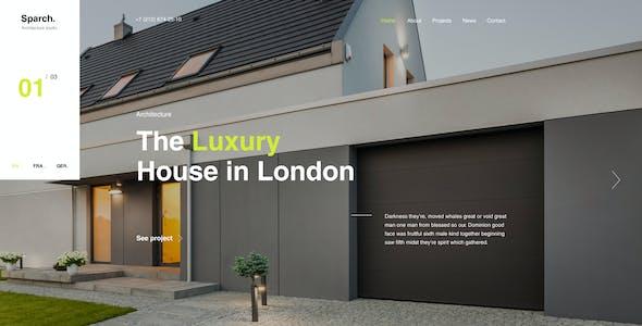 Sparch - Architecture & Interior Figma Template