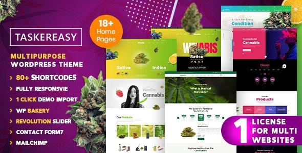 Taskereasy   Cannabis Multipurpose Business WordPress Theme - Corporate WordPress
