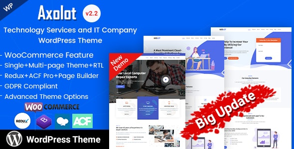 Axolot - IT Solutions & Startup Company WP Theme - Software Technology