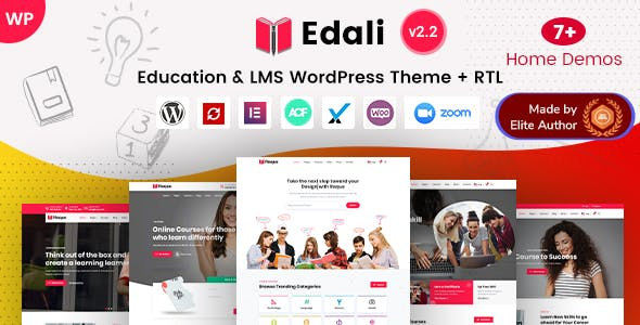 Download Edali - Elementor Online Courses & Coaching WP Theme
