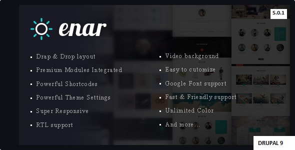 Enar - Multipurpose Drupal 9 Theme - Drupal CMS Themes