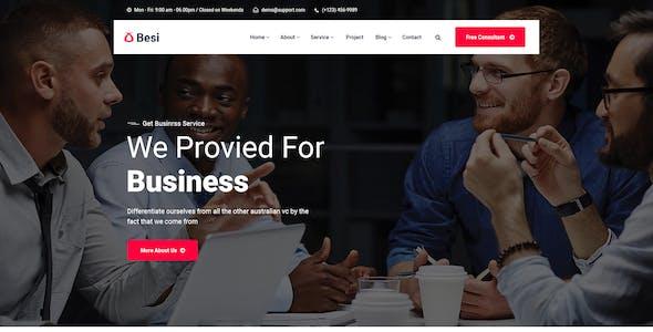 Besi - Business PSD Template