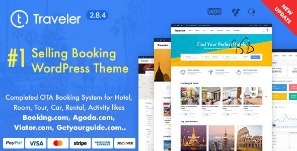 Travel Booking WordPress Theme - Travel Retail
