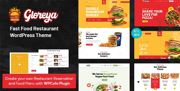 Restaurant Fast Food & Delivery WooCommerce Theme - Gloreya - Food Retail