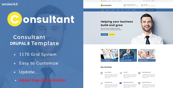 Consultant - Multipurpose Corporate Drupal 9 Template - Drupal CMS Themes