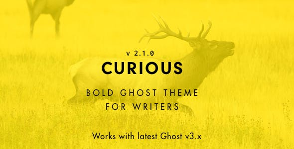 Curious - Blog and Magazine Ghost Theme