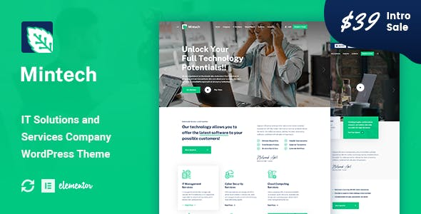 Download Mintech - IT Solutions & Services WordPress Theme