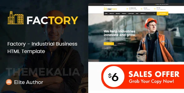 Factory - Industrial Business HTML Template - Business Corporate