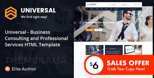 Universal - Business Consulting Services HTML Template