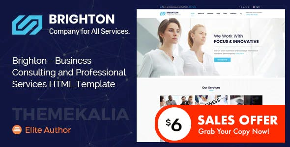 Brighton - Business Consulting and Professional Services HTML Template