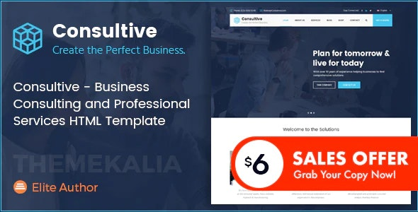 Consultive - Business Consulting and Professional Services HTML Template - Business Corporate