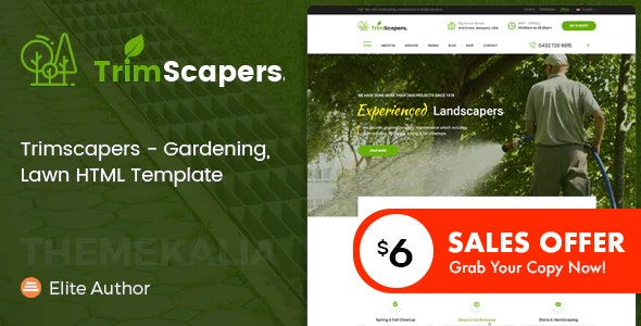 Trimscapers - Gardening and Landscaping HTML Template - Business Corporate