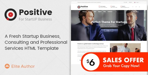 Positive - Consulting and Professional Services HTML Template - Business Corporate