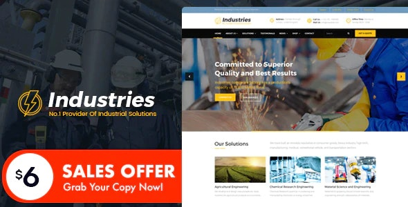 Industries - Factory And Industry Business HTML Template - Business Corporate