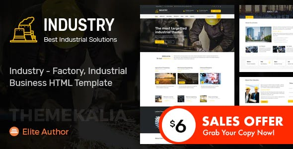 Industry - Factory, Industrial Business HTML Template