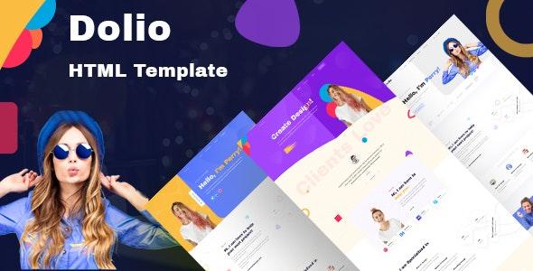 Dolio - Personal Portfolio Template - Portfolio Creative