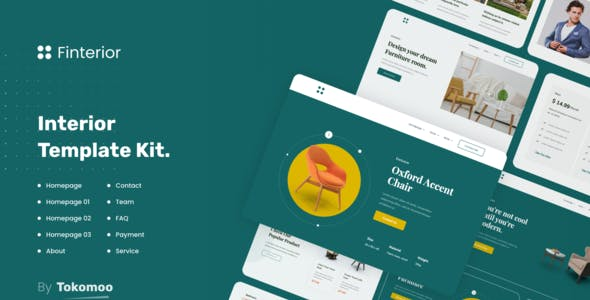 Finterior | Interior Design & Architecture  Elementor Template Kit