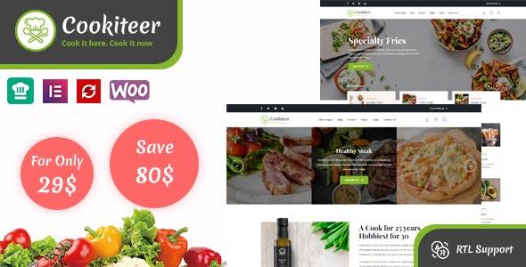 Download Cookiteer - Food & Recipe WordPress Theme